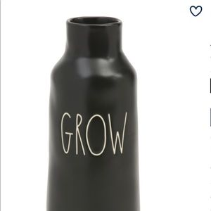 "Rae Dunn ""GROW"" Flower Vase in Black"